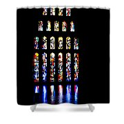The Stained Glass Windows Of Mary's Church In Nazareth Shower Curtain