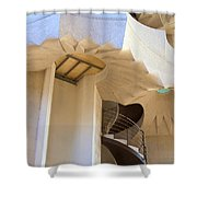 The Staircase Barcelona Shower Curtain