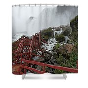 The Stairs To The Cave Of The Winds - Niagara Falls Shower Curtain