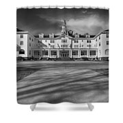 The Stanley Hotel Bw Shower Curtain
