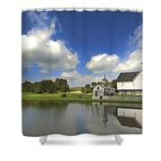 The Star Barn After The Storm Shower Curtain