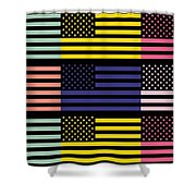 The Star Flag Shower Curtain by Tommytechno Sweden