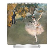 The Star Or Dancer On The Stage Shower Curtain