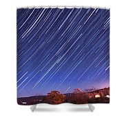 The Star Trail In Ithaca Shower Curtain