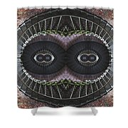 The Stare Shower Curtain by Debra and Dave Vanderlaan