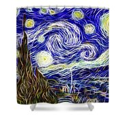 The Starry Night Reimagined Shower Curtain
