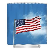 The Stars And Stripes Shower Curtain