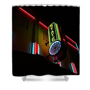 The State In Neon Shower Curtain