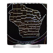 The State Of Wisconsin Shower Curtain