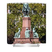 The Statue Of Istvan Szechenyi In Budapest Shower Curtain