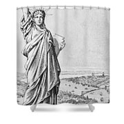 The Statue Of Liberty New York Shower Curtain