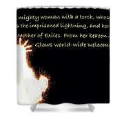 A Mighty Woman The Statue Of Liberty Shower Curtain