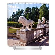 The Statues Of Archangelskoe Estate. Russia Shower Curtain