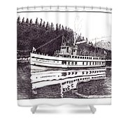 The Steamer Virginia V Shower Curtain