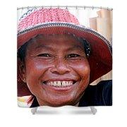 The Sticky Rice Lady Shower Curtain