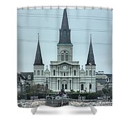 The St.louis Cathedral Shower Curtain