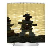 The Stone Couple Shower Curtain