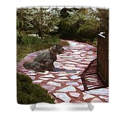 The Stone Path Shower Curtain