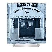 The Stone Pony Cool Shower Curtain