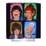 The Rolling Stones Shower Curtain by Dan Haraga