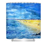 The Storm Arrives At The Beach Shower Curtain