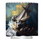 The Storm On The Sea Of Galilee Shower Curtain