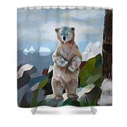 The Story Of The White Bear Shower Curtain