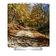 The Straight Road Shower Curtain