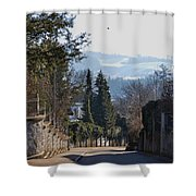 The Street In Upper Town 2 Shower Curtain