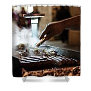 The Street Vendor Shower Curtain
