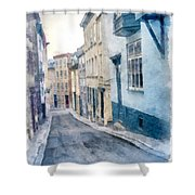 The Streets Of Old Quebec City Shower Curtain