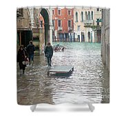 The Streets Of Venice Shower Curtain