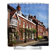 The Streets Of Winchester England Shower Curtain