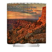 The Strong Tower Shower Curtain