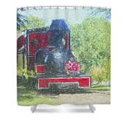 The Sugar Train Shower Curtain
