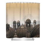 The Suleymaniye Mosque And New Mosque In The Backround Shower Curtain