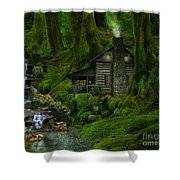 The Summer Cottage Shower Curtain
