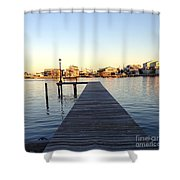 The Sun Begins To Set On Long Beach Island Shower Curtain