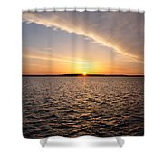 The Sun Coming Up On The Chesapeake Shower Curtain