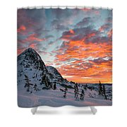 The Sun Rises, Illuminating The Sky Shower Curtain