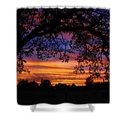 The Sun Sets For Mike Shower Curtain
