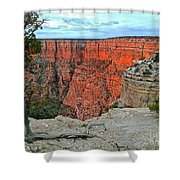 The Sun Shines On The Canyon Shower Curtain