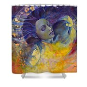The Sun The Moon And The Truth Shower Curtain