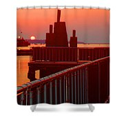 The Sun The Sound And The Sky Shower Curtain