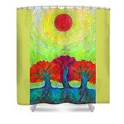 The Sun Three Shower Curtain