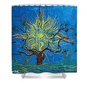 The Sun Tree Shower Curtain