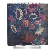 The Sunflower Bouquet Shower Curtain