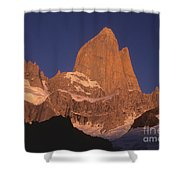 The Sunrise Of Fire Mt Fitzroy Shower Curtain