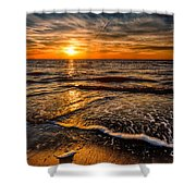 The Sunset Shower Curtain by Adrian Evans