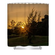 The Sunset In The Mountain IIi Shower Curtain
